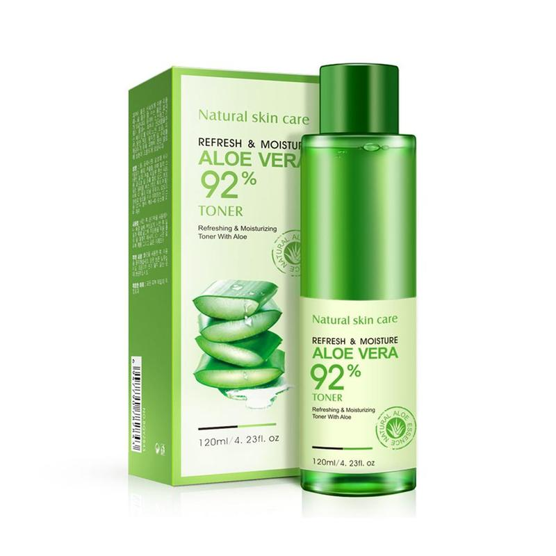 120ml Hydrating Moisturizing Vitamin C Natural Face Toner Aloe Vera Gel VC Skin Care  Lighten Pore Toner Korean