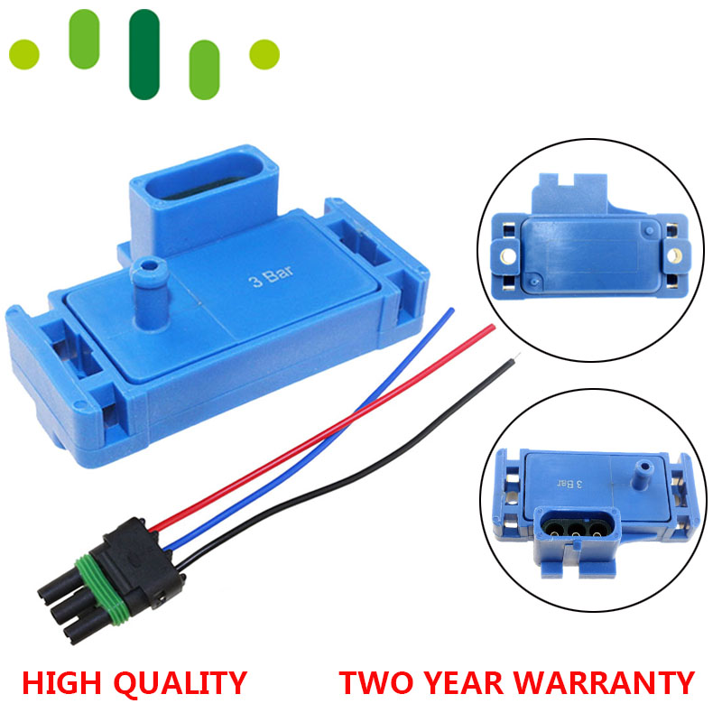 Promotion - NEW For GM STYLE 3BAR 3 BAR MAP Sensor For Electromotive Motec Megasquirt With Plug 12223861 16040749