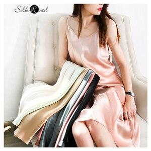 Шелковое мини-платье на бретельках, Женская шелковая пижама, атласное платье-трапеция, женская одежда 2020