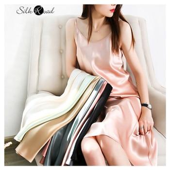 Silviye Silk halter dress sexy women's silk pajamas can wear Satin A-line dress blusas mujer de moda 2020 epson t605c light magenta 110 мл c13t605c00