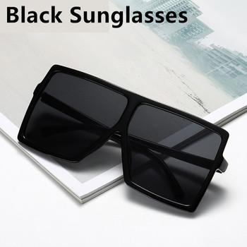 Czarne okulary przeciwsłoneczne damskie 2020 kwadratowe ponadgabarytowe okulary przeciwsłoneczne odcienie dla kobiet duże oprawki okulary przeciwsłoneczne damskie okulary damskie okulary tanie i dobre opinie GIAUSA WOMEN SQUARE Dla dorosłych Z tworzywa sztucznego UV400 57mm Square Oversized Sunglasses 65mm Oversized Women Sunglasses 2020