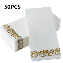 2021 New 50 Pcs Disposable Tissue Napkin Home Restaurant Dish Paper Towel Home Table Decorations Skin Friendly Dust-free Napkins