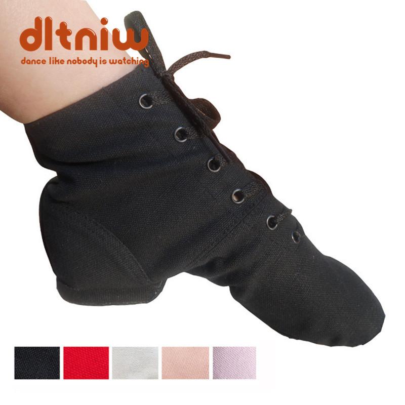 High Top Desinger Ballet Dance Shoes Split Heels Sole Shoe Black Red White Men Women Boys Girls Canvas Jazz Shoes