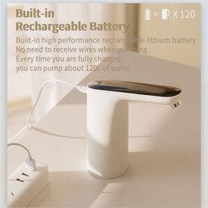 Image 3 - Xiaomi 3 חיים מים משאבת אוטומטי USB מגע מתג מים משאבת אלחוטי נטענת חשמלי מתקן מים משאבת עם כבל USB
