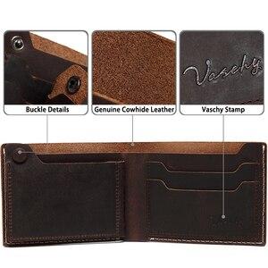 Image 5 - VASCHY หนังกระเป๋าสตางค์กระเป๋าสตางค์ VINTAGE Bifold Slimfold พร้อมช่องใส่การ์ด 6 ช่อง Cowhide หนังกระเป๋าสตางค์สำหรับบัตรเครดิต