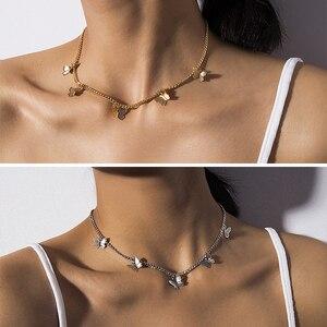 Youvanic милое ожерелье-чокер с бабочкой для женщин, Золотая цепочка, Массивный воротник, Женский чокер, лучшие блестящие украшения на Aliexpress