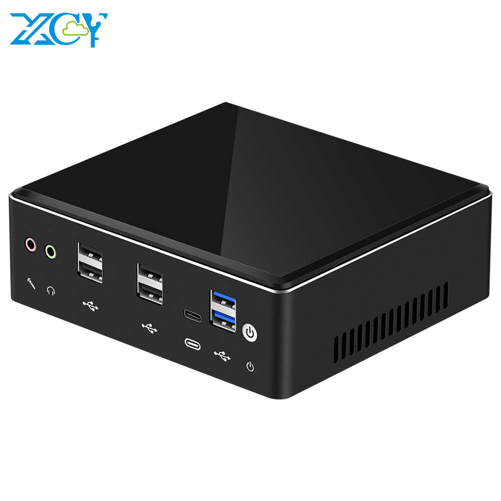 XCY X41 Mini PC 10th Gen Intel Core i7 10510U DDR4 M.2 SSD 8 * USB HDMI DP 4K 60fps 2 * LAN Type-C WIFI บลูทูธ Windows 10 HTPC