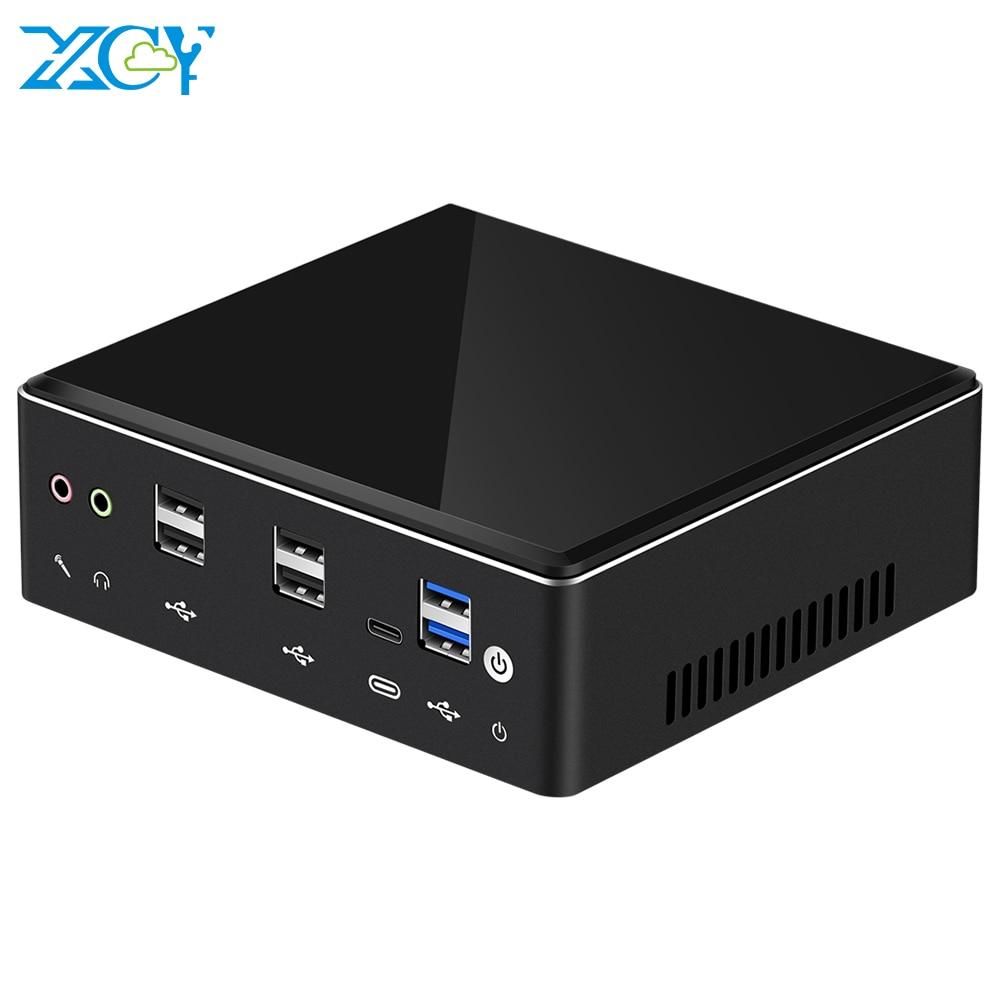 XCY X41 Мини ПК 10-го поколения Intel Core i7 10510U DDR4 M.2 SSD 8 * USB HDMI DP 4K 60fps 2 * LAN Type-C WiFi Bluetooth Windows 10 HTPC