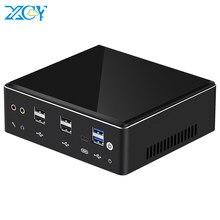 XCY X41 мини-ПК 10-го поколения Intel Core i7 10510U DDR4 M.2 SSD 8 * USB HDMI DP 4K 60fps 2 * LAN Type-C 2,4G/5,0G WiFi Windows 10 HTPC