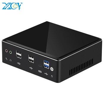 XCY X41 Mini PC 10th Gen Intel Core i7 10510U DDR4 M.2 SSD 8*USB HDMI DP 4K 60fps 2*LAN Type-C WiFi Bluetooth Windows 10 HTPC