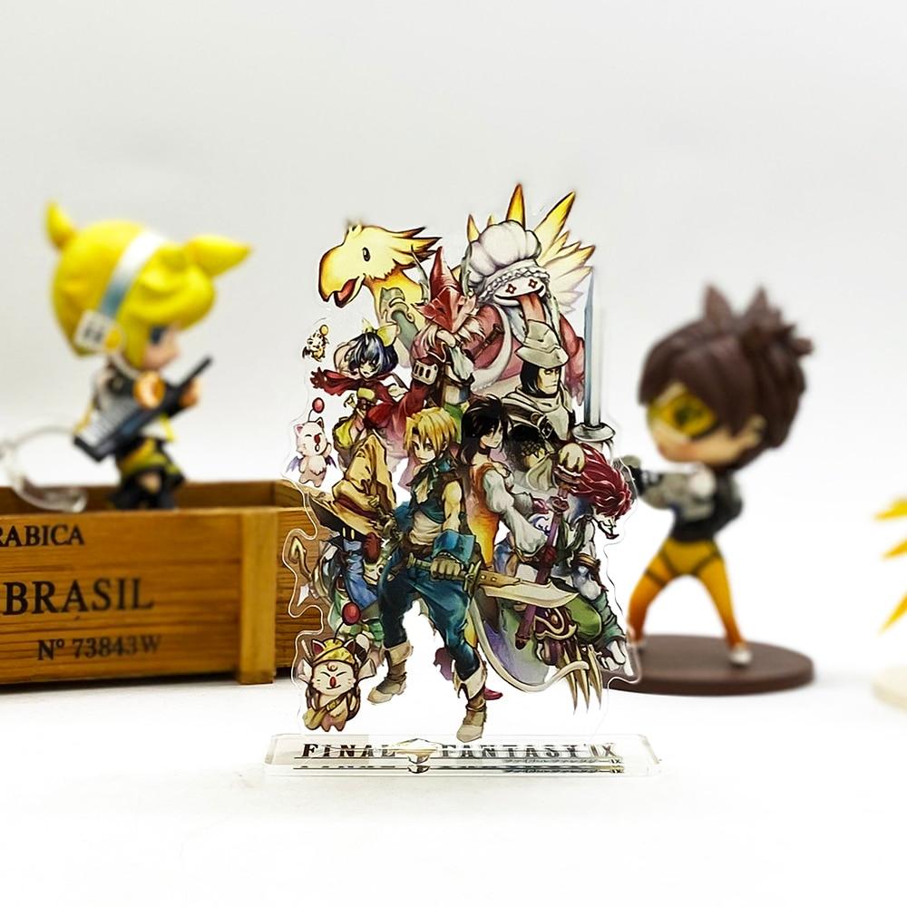 Love Thank You Final Fantasy IX FF 9 Group Zidane Garnet VIVI Acrylic Stand Figure Model Plate Holder Cake Topper Anime Toy