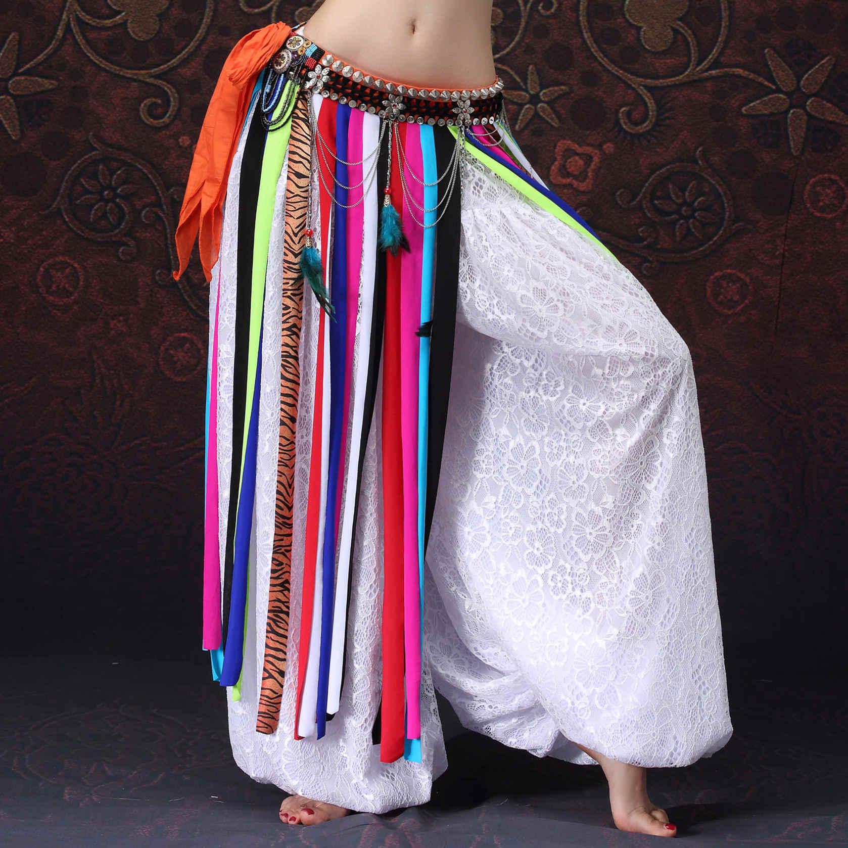 Modern ATS Suku Gaya Tari Perut Pakaian Kostum Aksesoris Wanita Gypsy Dansa Celana Harem Hollow Celana