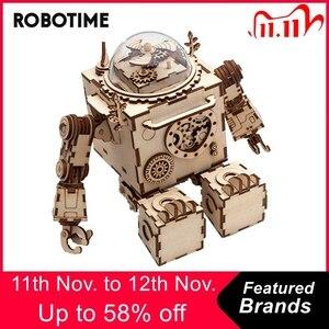 Image 1 - Robotime 5 sortes ventilateur rotatif en bois bricolage Steampunk modèle Kits de construction assemblage jouet cadeau pour enfants adulte AM601