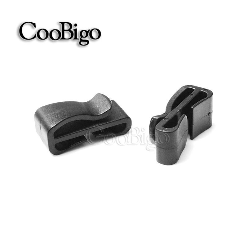 25pcs Pack Quick Slip Keeper Plastic Buckle Webbing Ending Clips Adjusting Strap Belt Molle Tactical Backpack Camping Webbing Size:1