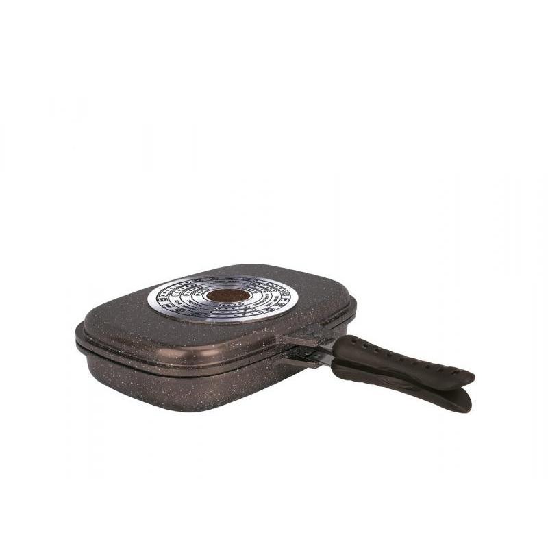 Frying Pan Grill ZEIDAN, GRANITE, 32*23*7,7 Cm, Double