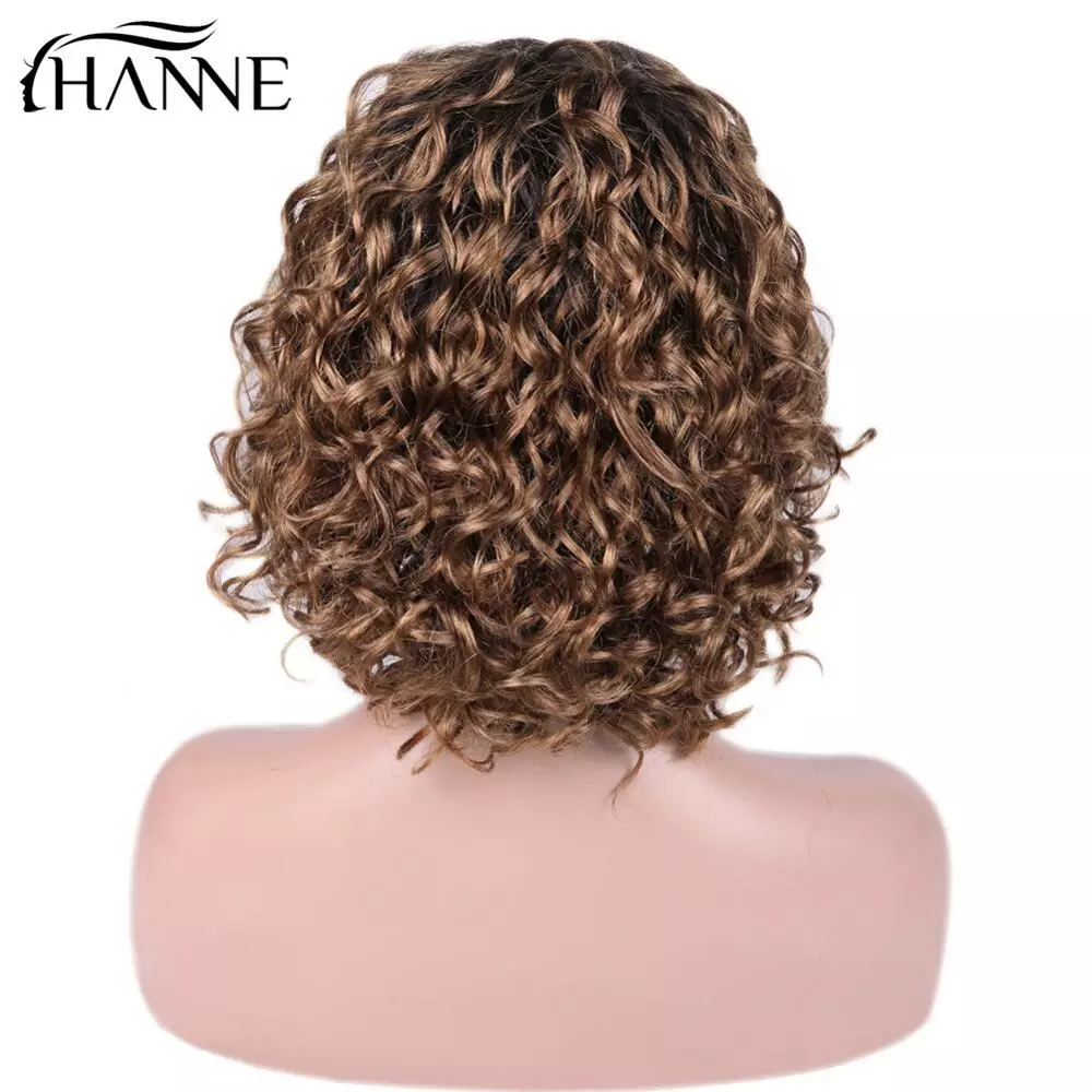 HANNE Hair Brazilian Lace Front Human Hair Wigs Free Part Curly Remy Wig For Women 150% Density Pre Plucked #T2/30 Free Shipping