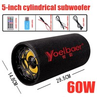 60W Bluetooth Speaker Car Speaker Subwoofer Bluetooth Sound Boom Box Powerful Column Music Center Two 3 inches Speakers TF AUX