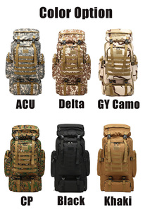 Image 4 - 80L Waterproof Molle Camo Tactical Backpack Military Army Hiking Camping Backpack Travel Rucksack Outdoor Sports Climbing Bag