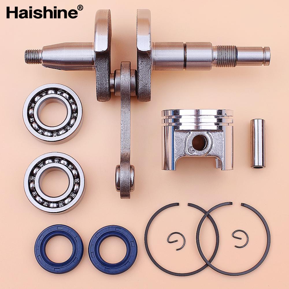 Комплект кривошипов коленчатого вала, сальник и поршневые кольца 37 мм, подходят для двигателя STIHL MS170 MS 170 017