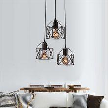 Железный подвесной ретро светильник в стиле лофт индастриал