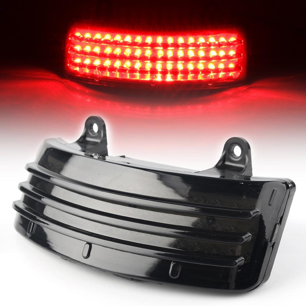 Red Tri-Bar LED Rear Tail Brake Fender Tip Light For Harley FLHX 2014-2018