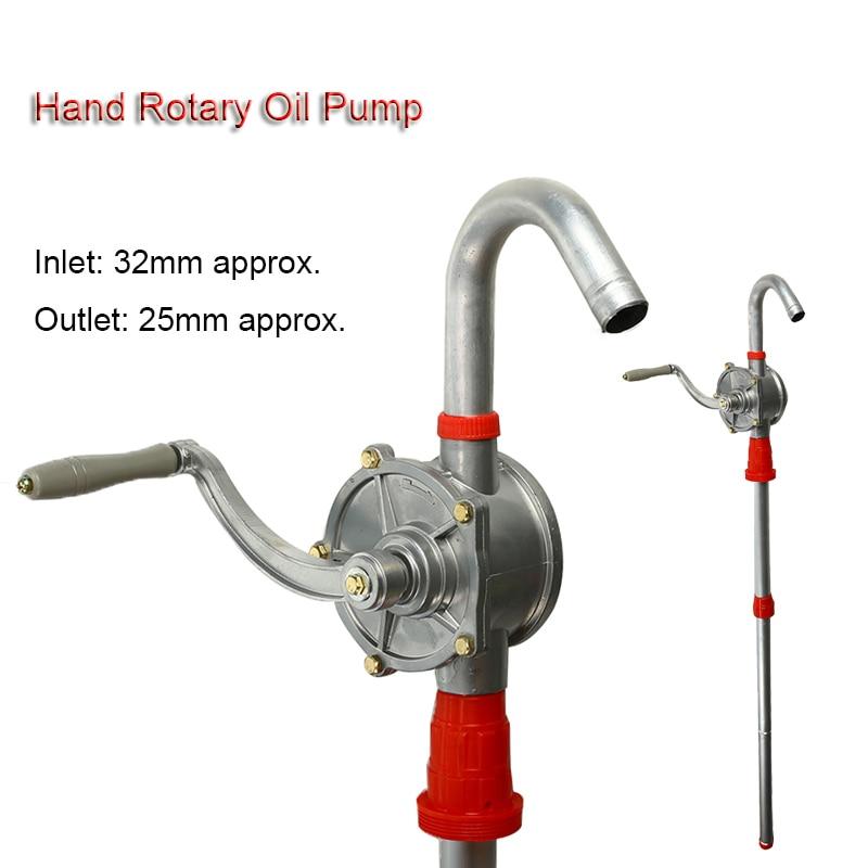 Manual Hand Pump 32mm Heavy Drum Rotary New Oil Fuel Barrel Heavy Duty Pump Diesel Fuel Oil Gas Transfer Tool
