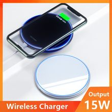 15W Universal Qi Wireless Charger For IPhone Wireless Charging Pad For Samsung Xiaomi Huawei Fast Wireless Charging Stand