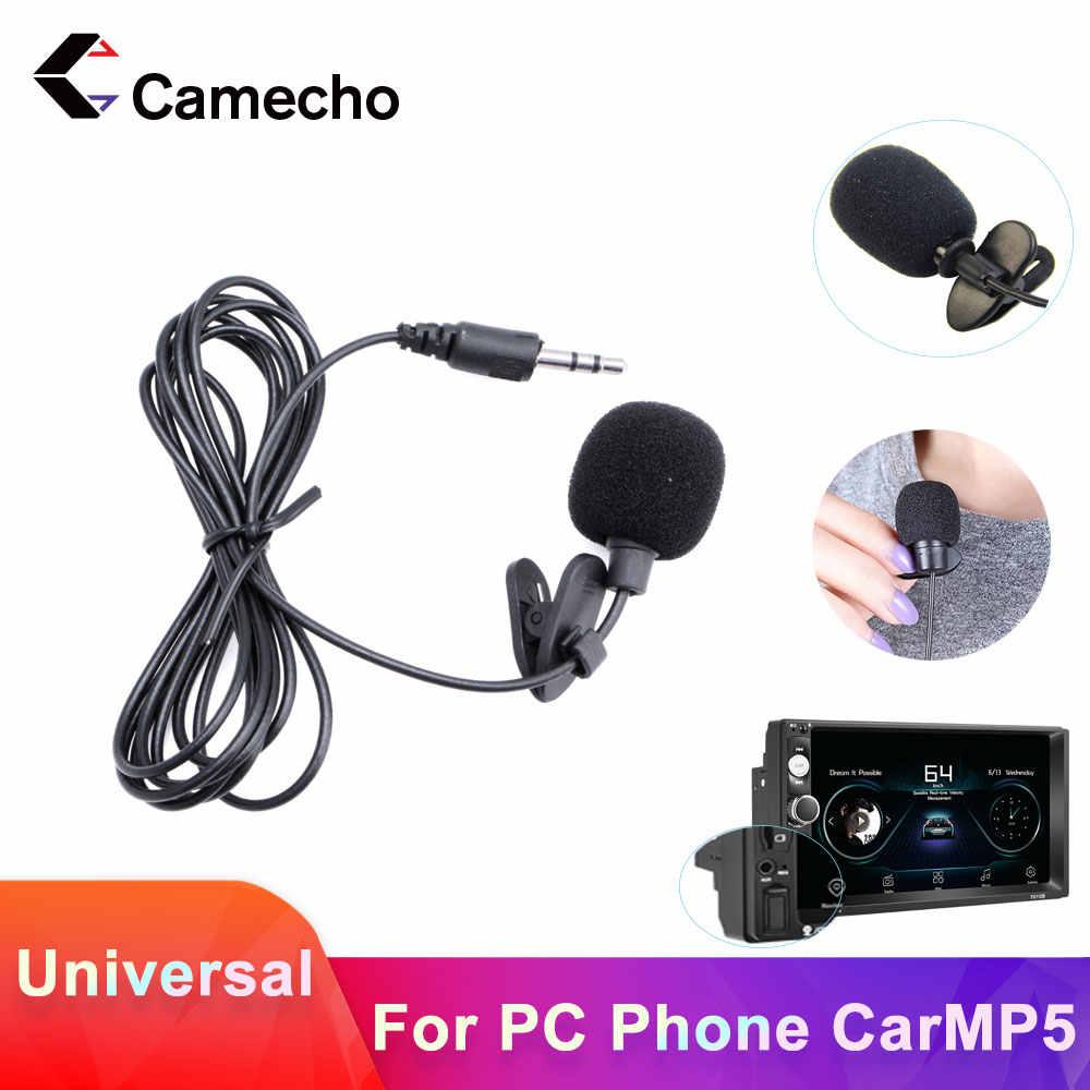 Camecho Mini Di Động 3.5mm Micro cho 2 Din Xe Ô Tô Đài Ngoài để Laptop tay Micro dành cho Máy Ảnh
