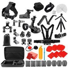 Yicoe Zubehör Kit für Gopro Hero 8 7 6 5 Schwarz Osmo Action 4 3 Sitzung Set für Xiaoyi 4K SJCAM EKEN Mijia und andere Kameras