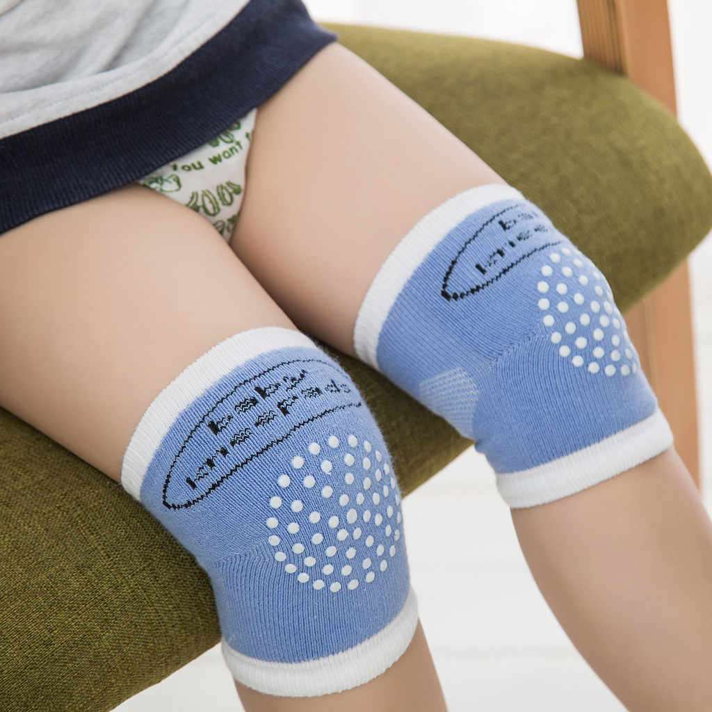Baby Kneepad Newborn Baby A Pair Anti-skid And Anti-fall Of Child Protection Sock Cotton Suitable For 0-3 Year Old Baby