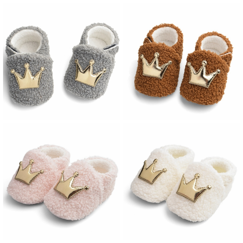 Soft Soled Baby Boy Shoes 2019 Baby Girl Shoes Newborn Kid Shoes Infant Warm Boot Crib Shoes Autumn Winter