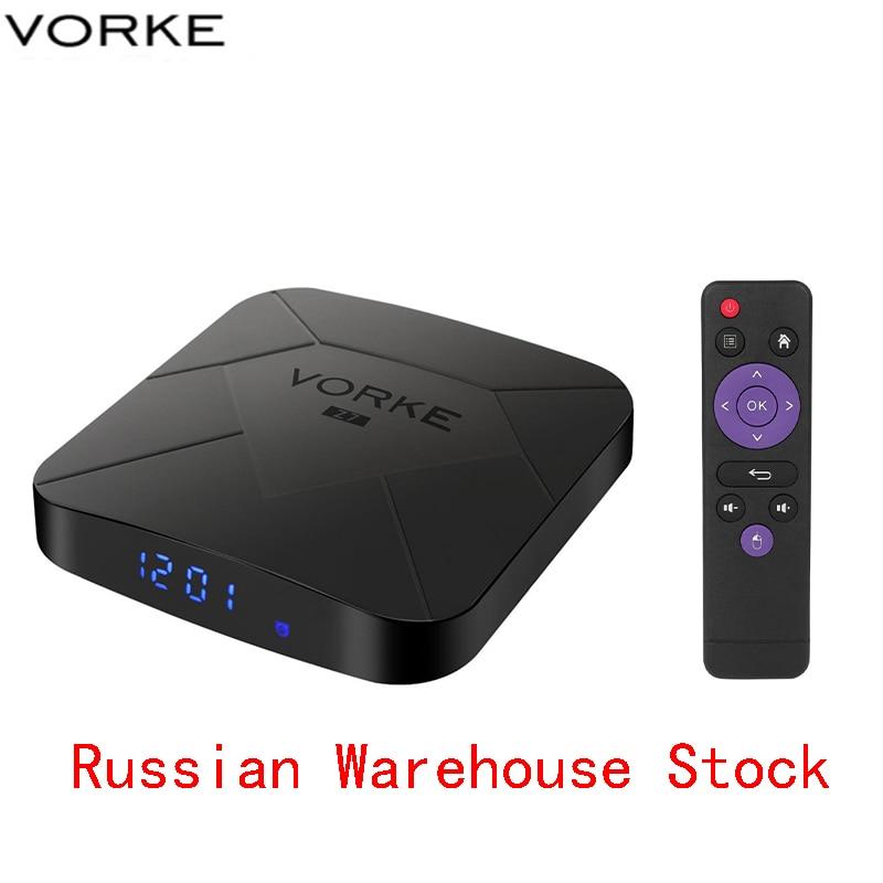Boîtier TV Vorke Z7 Android 9.0 4 GB/64 GB Allwinner H6 boîtier TV intelligent Quad Core USB 3.0 6K HDR lecteur Google Youtube meilleur que TX6