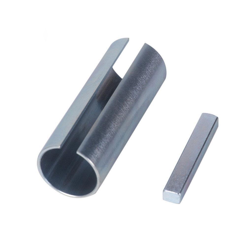 Yfashion Metal 1 to 1-1/8 inch 1/4 Key Gas Engine Pulley Crank Shaft Sleeve Adapter Predator