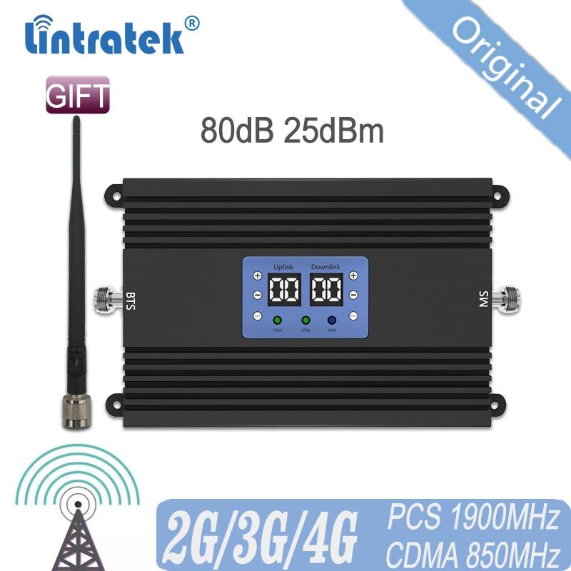 80db Cellular Signal Repetidor 850 1900MHz 2G 3G 4G Signal UMTS Amplifier Signal Dual Band CDMA Repeater WCDMA PCS Booster #15
