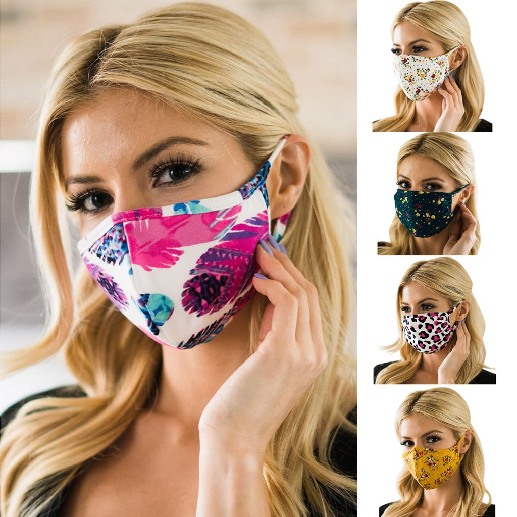 1PC Cycling Face Mask Anti Dust Ultraviolet Printed Facemask Washable Cotton Protective Mascarillas Breathable Masque Lavable