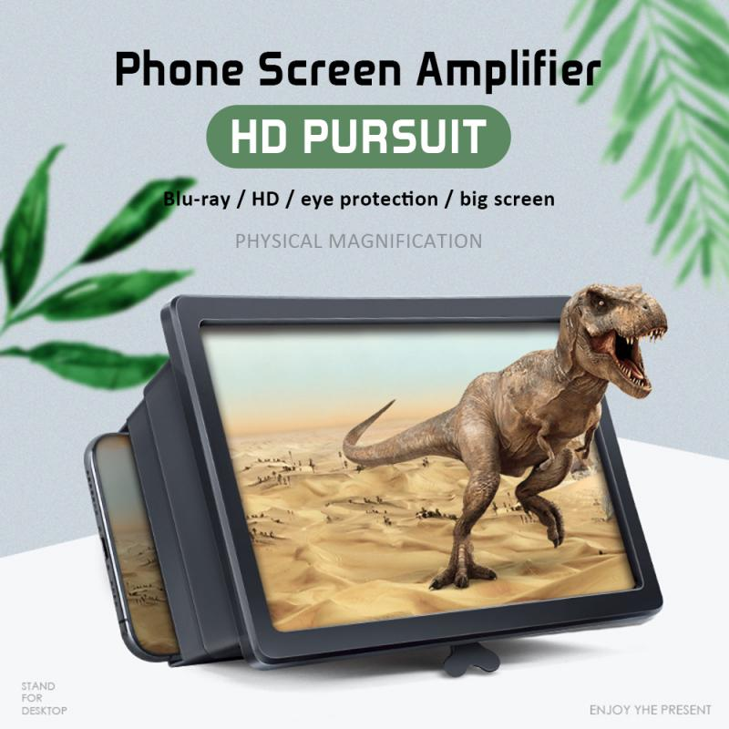 2019 Newly Mobile Phone Screen Magnifier Eyes Display 3D Video Screen Amplifier Folding Enlarged Expand Stand Holder