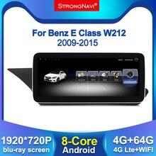 1920*720 IPS экран 4 + 64G Android для Mercedes Benz E class W212 E200 2009 2015 автомобильный радиоэкран GPS Навигация BT WIFI 4G lte