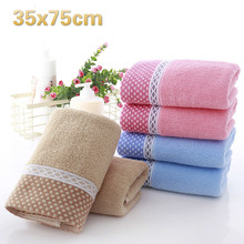 35x75cm Cotton Plain Color Home Brushing Washcloth School Dormitory Travel Portable Towel Gym Yoga Sweat Promotional Gifts
