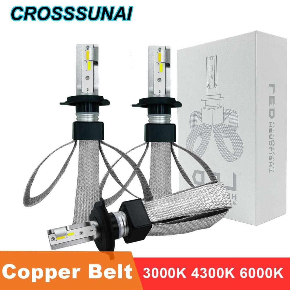 LED H4 H7 H11 Car Lights Bulb H1 H3 880 9005 9006 CSP Chip H27 HB2 HB3 HB4 LED Headlamp Bulb Auto Lamp 3000K 4300K 6000K