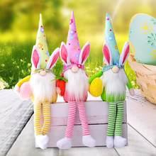 Paskalya tavşanı yüzü olmayan bebek peluş oyuncak paskalya yumurtası tavşan Elf cüce bebek bahar hediyeler ev dekorasyon ev süsler çocuk oyuncakları