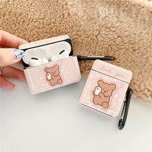 מצחיק חמוד דוב אוזניות מקרה עבור אפל Airpods כיסוי קריקטורה סיליקון אוזניות מקרה תיבת עבור airpods פרו 1 2 טעינה funda
