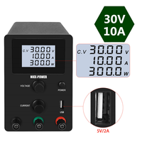 4 Digits Display 30v 10a DC switching Laboratory Power Supply Adjustable Lab Power Supplies Digital Power Source Bench Source