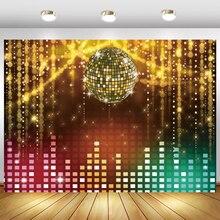 Shiny Gold String Punkte Disco Geburtstag Karneval Party Ball Bühne Portrait Fotografie Hintergrund Foto Hintergrund Foto Studio