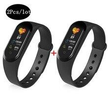 2Pcs/lot 2020 M5 Smartband Sport Fitness Tracker Smart Band Blood Pressure Smart Bracelet Heart Rate Monitor Wristband Men Women