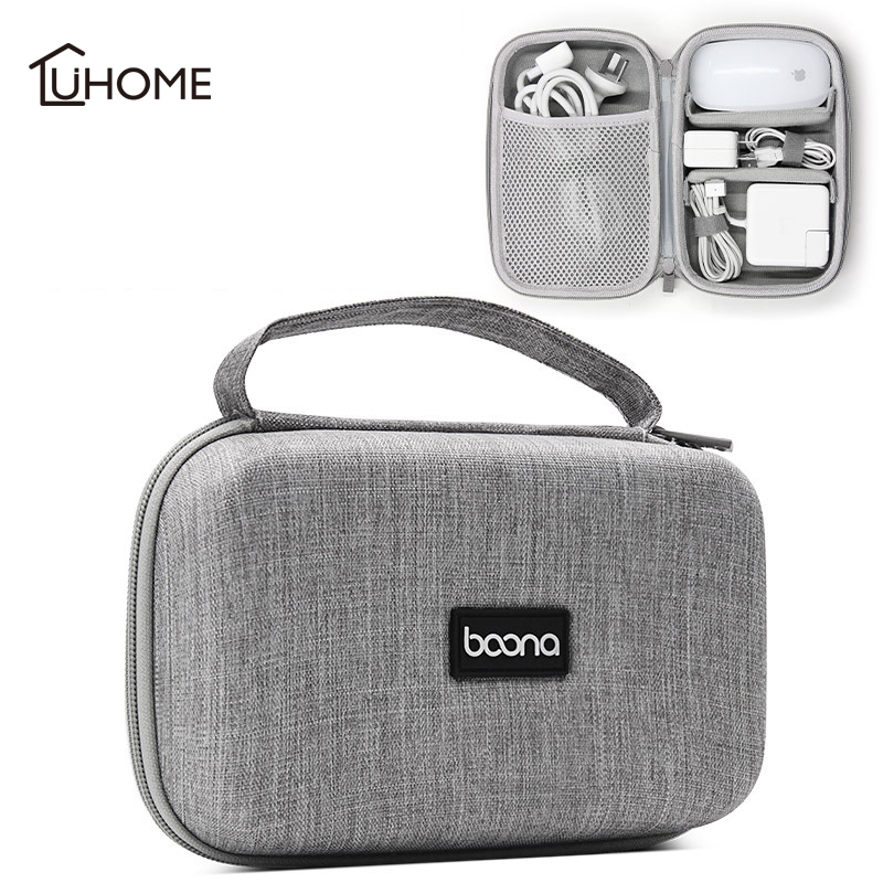 Travel Digital Cable Storage Bag Mobile Power Organizer Bag Electronics Accessories Bag Case for Laptop Power Adapter Storage