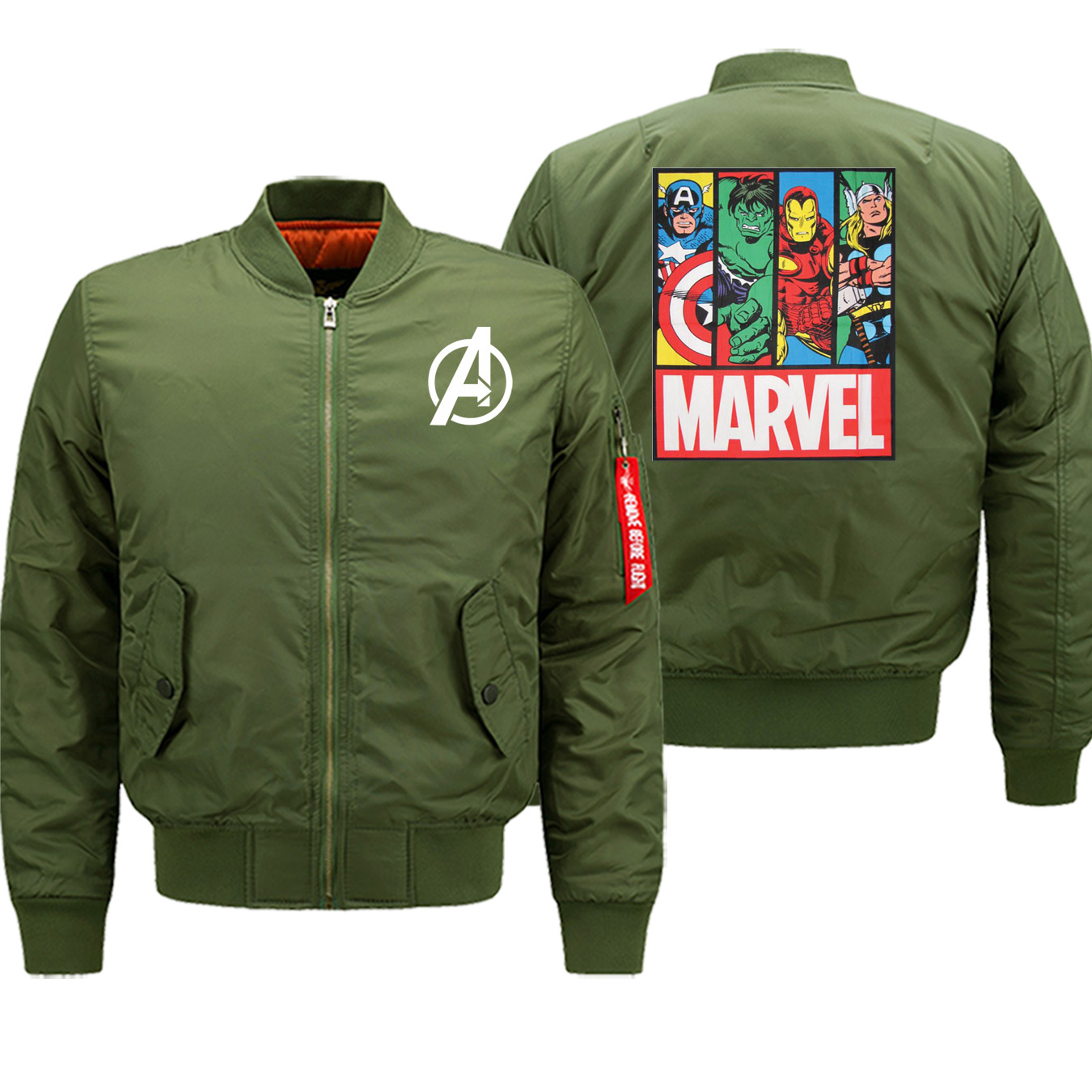 Winter Hot Sale Coat Thick Marvel The Avengers Men Jackets Streetwear Fashion Bomber Zipper Military Casual Jacket Motorcycle