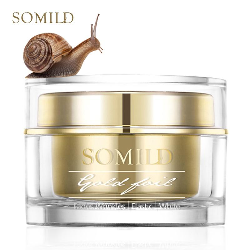 Somild 24 k ouro rosto creme caracol essência anti envelhecimento cuidados com a pele rugas manchas remover coreano cosméticos creme para os olhos clareamento facial