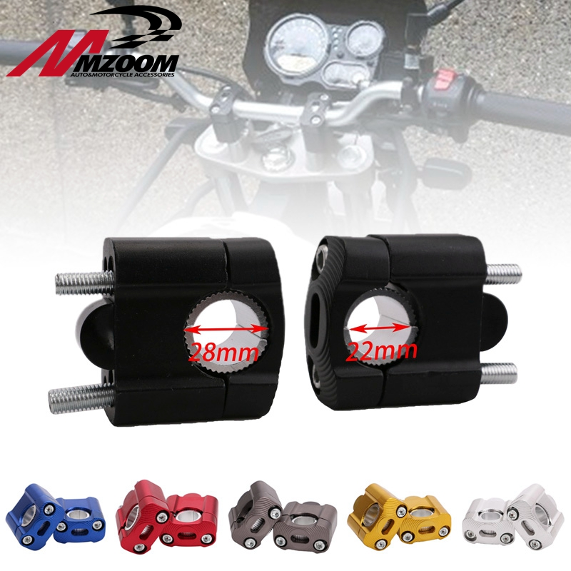 Free Shipping 1 Pair CNC 22mm 28mm Off Motorcycle Bar Clamps Handlebar Riser Adapter For 7/8