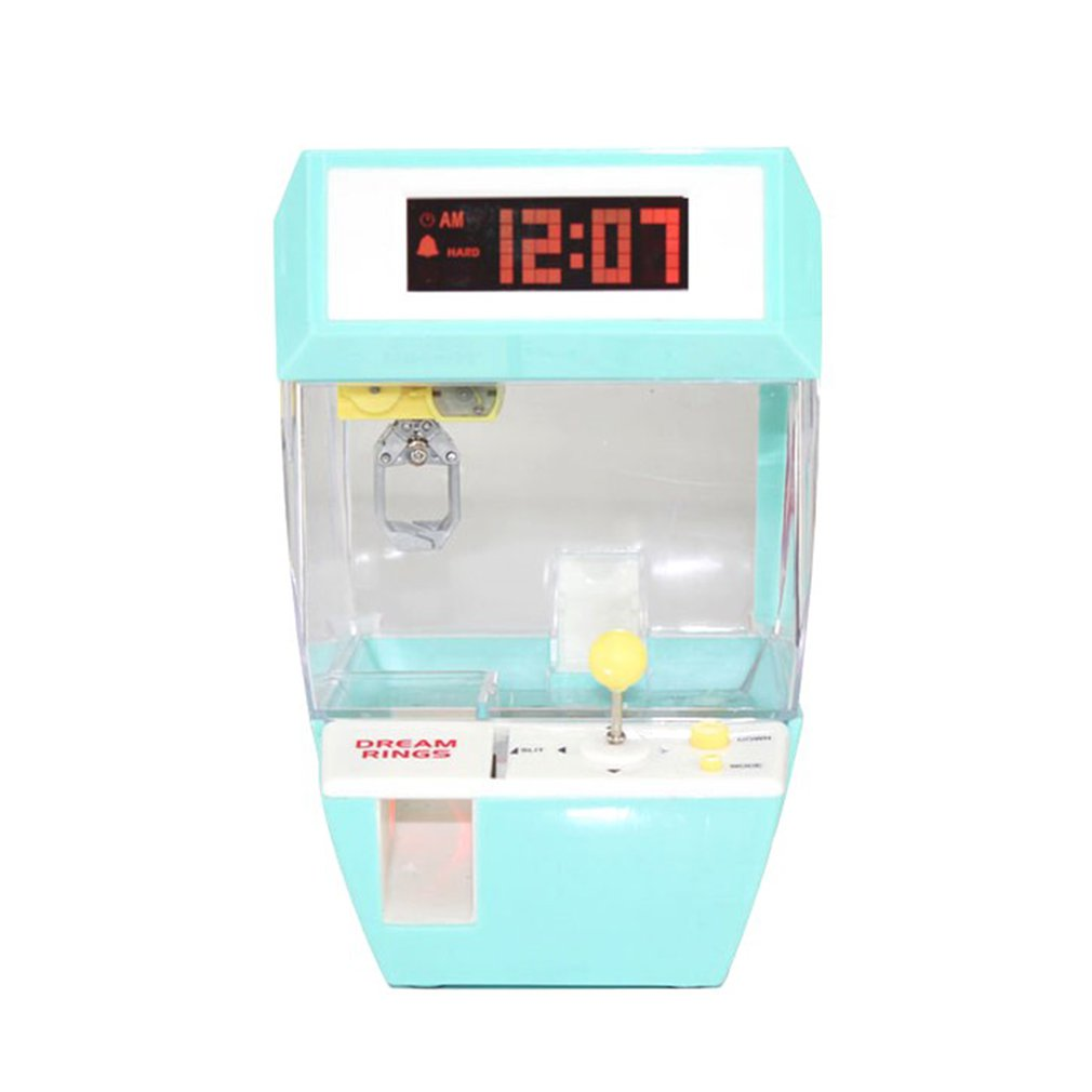 Catcher Alarm Clock Coin Operated Machine Game Machine Candy Hanging Doll Claw Claw Machine Arcade Kid's Automatic Toys Kids