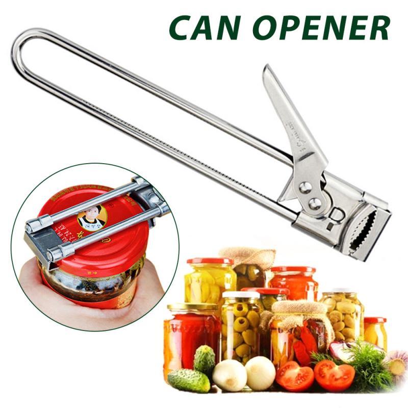 Портативный Регулируемый консервный нож, многофункциональная открывалка для пивных бутылок, ручной консервный нож из нержавеющей стали, к...